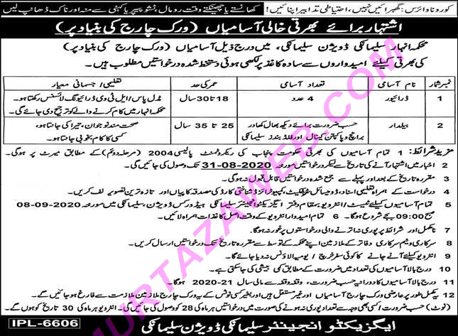 Driver Jobs in Agriculture Department Govt of the Punjab