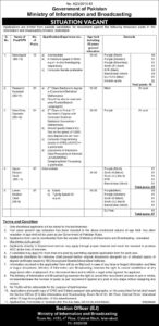 Ministry Of Information And Broadcasting Data Entry Stenotypist Jobs 2020