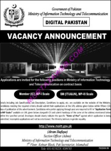 Ministry Of Information Technology And Telecommunications Latest Jobs 2020