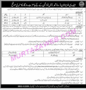 Pak Army Frontier Corps Balochistan South Lady Soldier Latest Jobs 2020