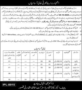 District Health Authority Dha Kasur Latest New Administrative Jobs 2020