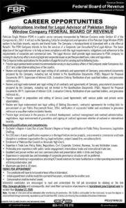 Federal Board Of Revenue FBR Government Of Pakistan Islamabad Jobs 2020