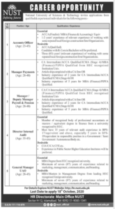 National University Of Sciences And Technology Nust Islamabad Administrative New Jobs 2020