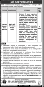 Oil And Gas Development Company Ltd Driver Jobs 2020, Murtazaweb.com