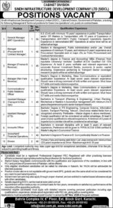 Sindh Infrastructure Development Company Limitd Cabinet Division Latest Jobs 2020