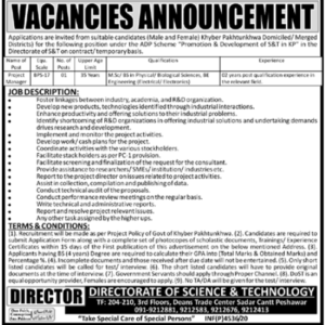 Directorate Of Science And Technology Dost Ajk Latest Jobs 2020