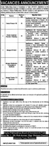 Khyber Pakhtunkhwa Board Of Investment And Trade Kp Boit Latest Management Jobs