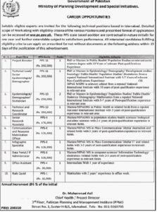Ministry Of Planning Development And Special Initiatives Islamabad New Technical Jobs 2020