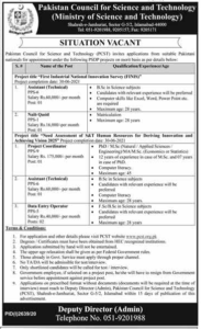 Ministry Of Science And Technology Assistants Jobs 2020 Murtazaweb.com