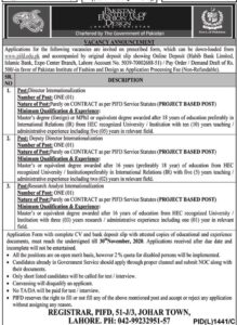 Pakistan Institute Of Fashion And Design Pifd Lahore Latest Researchers Jobs 2020