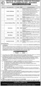 Peshawar Institute Of Cardiology Pic Mti Administrative Dawn Latest Jobs 2020