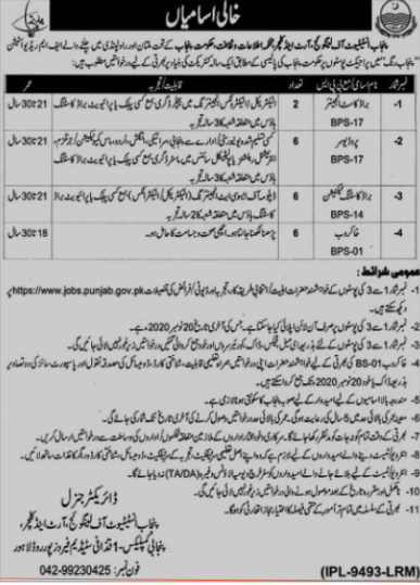 Punjab Institute Of Language Art And Culture Latest Lahore Technical Jobs 2020