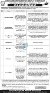 Water And Sanitation Services Company Mingora Swat Accounts And Finance New Jobs 2020
