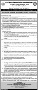 Karachi Water & Sewerage Services Improvement Project Jobs 2021 in The News