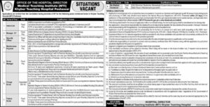 Khyber Teaching Hospital Peshawar Nursing Jobs 2020 Murtazaweb.com