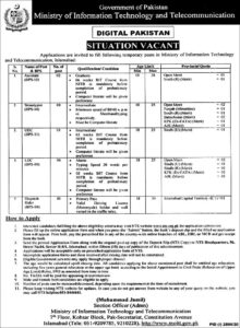 Ministry Of Information Technology And Telecommunications Latest Administration Jobs 2020