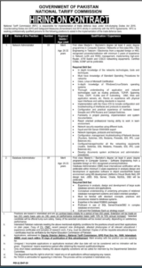 National Tariff Commission Ntc Administration Latest Jobs 2020 In Jang Newspaper