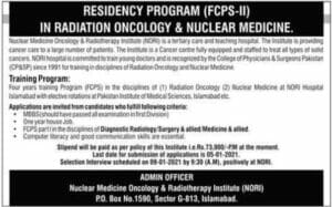 Nuclear Medicine Oncology & Radiotherapy Institute NORI Jobs 2021
