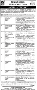 Punjab Skills Development Fund Psdf Jobs 2020 Murtazaweb.com