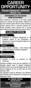 Rescue 1122 Punjab Emergency Service Administrative Jobs 2020 In The Nation News Papers