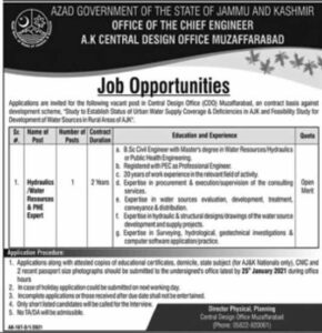 Central Design Office Muzaffarabad News Jobs 2021 Recruitment