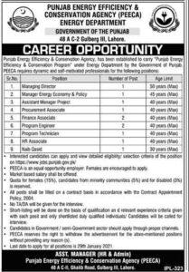 Energy Department Punjab Management Jobs 2021 Apply Online, Jobs.punjab.gov.pk