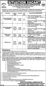 Government Jobs in Lahore 2021, PHOTA Lahore for Director Administration