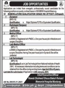 Government Medical Officer Jobs in Mastung 2021 Employment Opportunities