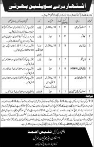 Join Pak Army Civilian Jobs 2021 for Assistant Camera Man, Command & Staff College Quetta