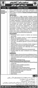Join Pak Army FWO Jobs 2021 for Business Development Manager
