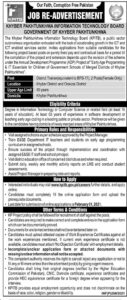 KPITB Jobs 2021 for District Trainer in Khyber Pakhtunkhwa Information Technology Board