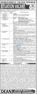 Khyber Medical College KMC Jobs 2021 Peshawar Advertisement for Assistant Professor