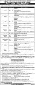 Medical & Teaching Institution Peshawar Jobs 2021 for Data Base Administrator