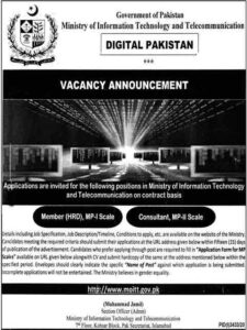 Ministry of Science & Technology Jobs 2021 For Director and Deputy Director Advertisement