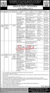 Nadra Jobs Junior Executive 2021 in Peshawar, Ministry of Interior Advertisement