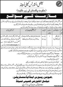National Insurance Company Limited NICL Jobs 2021 Karachi for General Manager