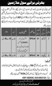 Pakistan Army Civilian Driver Jobs 2021, Base Supply Depot Kharian