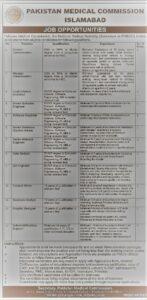 Pakistan Medical Commission Jobs 2021, PM & DC Management MBA Base