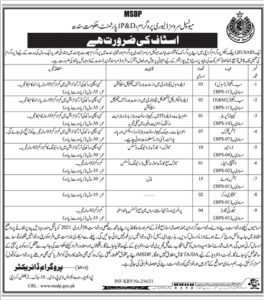 Planning and Development Sindh Jobs 2021 for Sub Engineer Civil