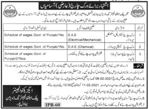 Public Health Engineering Department Jobs 2021 for Work Charge