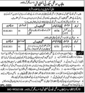 Punjab Social Security Institution Lahore Jobs 2021 Junior Technician