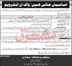 Saidu Group of Teaching Hospitals Swat Jobs 2021 for Data Entry Operator