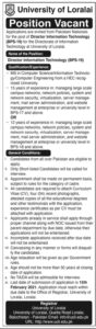 University of Loralai Latest Jobs 2021 for Director Information Technology