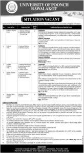 University of Poonch Rawalakot UPR Jobs 2021 for Professor Application Form