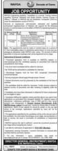 Wapda Jobs 2021 for Chief Engineer in Lahore, Water & Power Development Authority