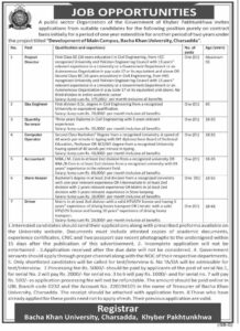 Bacha Khan University Jobs 2021 in Charsadda KPK for Site Engineer