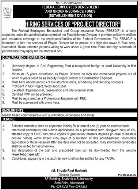 Federal Employees Benevolent & Group Insurance Funds Jobs 2021
