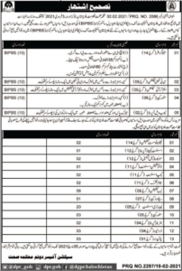 Health Department Jobs 2021 in Quetta Balochistan for Stenographer