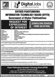KPITB IT Consultant Jobs 2021at KPK