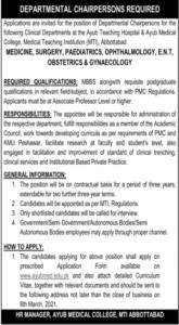 Medical Staffing Jobs 2021 at Ayub Medical College